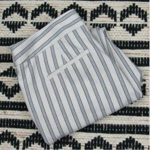 Loft Triple Stripe Linen Blend Pants